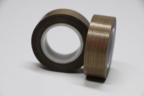 2Rolls PTFE Teflon Tape 25mm x33ft 180um thicker 662℉ High-temp Adhesive Tape