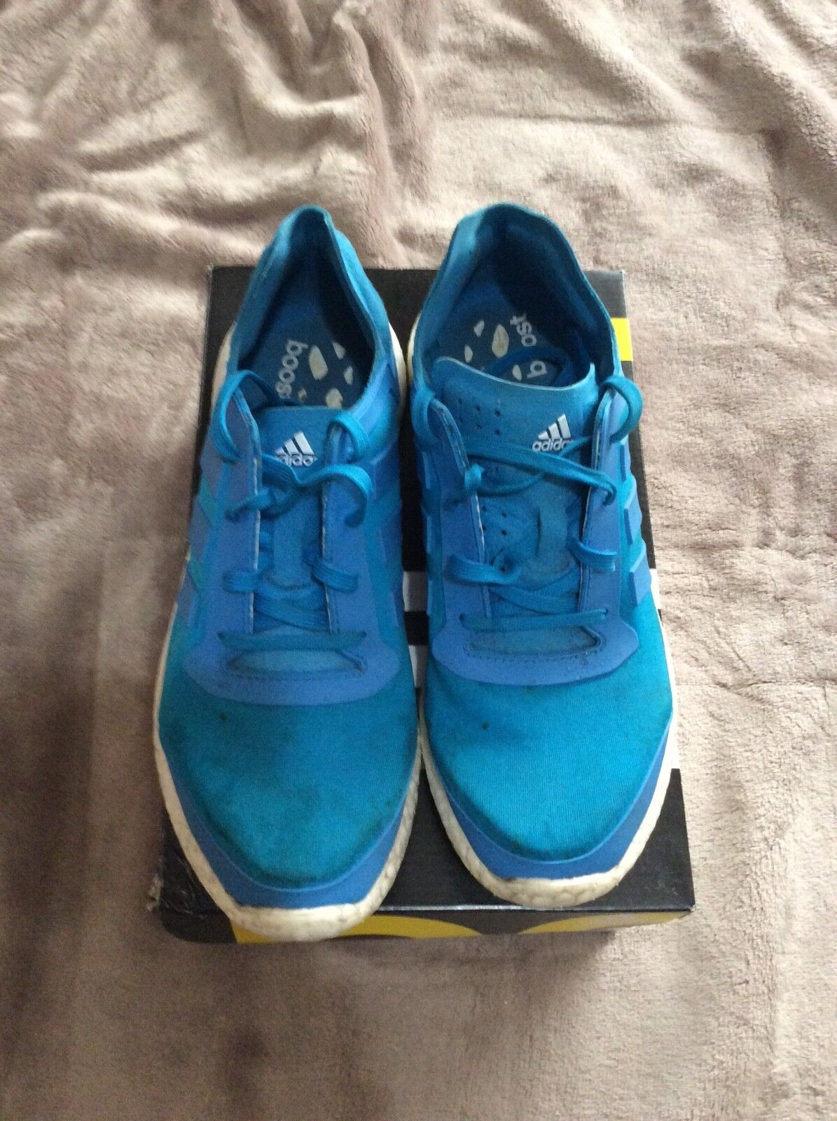 Pre owned adidas mens pureboost blue size 9 The latest discount shoes for men and women