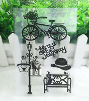 Bike Silicone Rubber Clear Stamp Seal Scrapbooking Diary Christmas Card