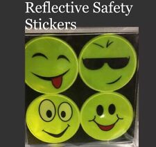 4pk REFLECTIVE Neon Hands Reflector Safety Stick on Bike Clothing  Night HiViz