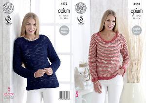 f8c0c6d49 Image is loading Ladies-Raglan-Sleeve-Sweaters-Jumpers-Knitting-Pattern-King -