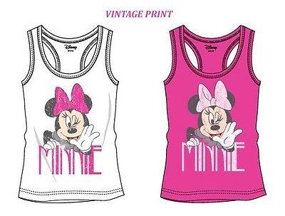 Minnie Mouse T-Shirt 134 140 146 152 158 Tanktop Mädchen Vintage Top retro Shirt