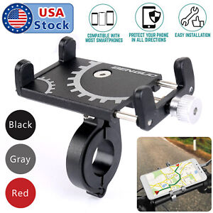 Aluminum-Motorcycle-Bike-Bicycle-Holder-Mount-Handlebar-For-Cell-Phone-GPS-US