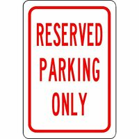 Reserved Parking Only Aluminum Sign Street And Safety Sign - Will Not Rust
