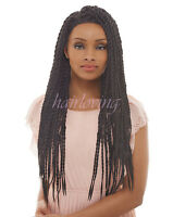 Senegalese Braid Lace Wig, Femi Collection Premium Synthetic Kanekalon/toyokalon