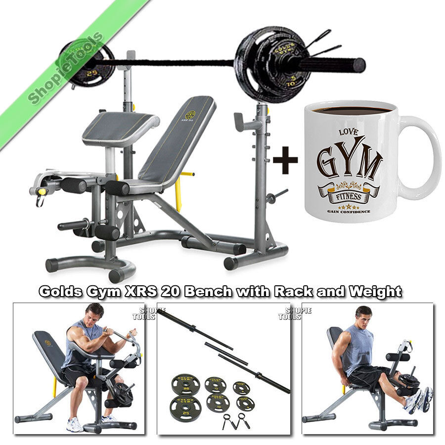 Gold S Weight Rack: Gold Gym XRS20 Olympic Weight Bench Press FID With Rack