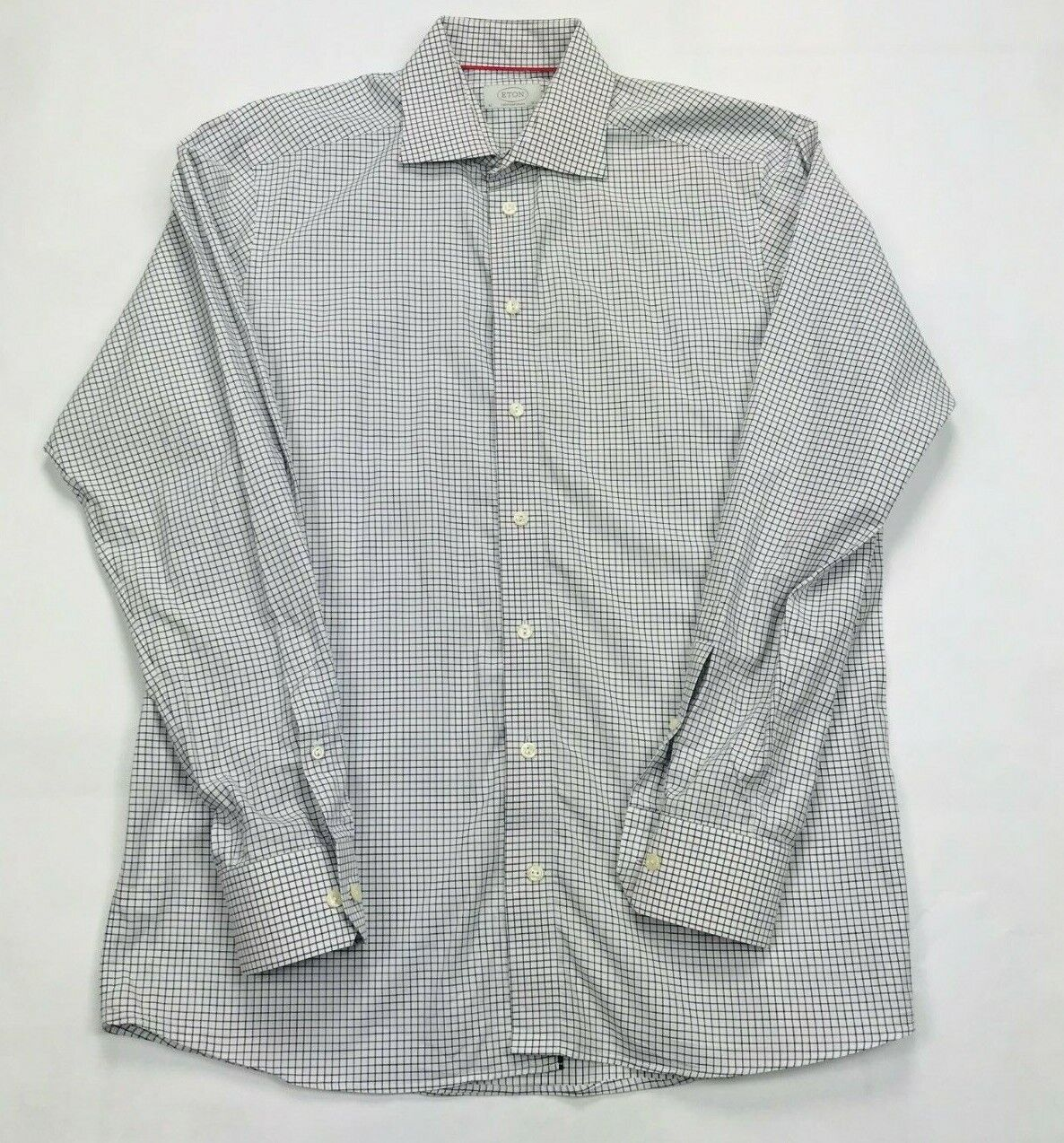 Eton of Sweden Luxury Long Sleeve Button Up Contemporary Shirt SIZE  16 1 2   42
