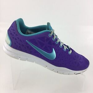 official photos 44afb e7941 Details about Nike Free Tr Fit 3 Breathe Purple Turquoise Training Womens  8.5 Shoes RA1