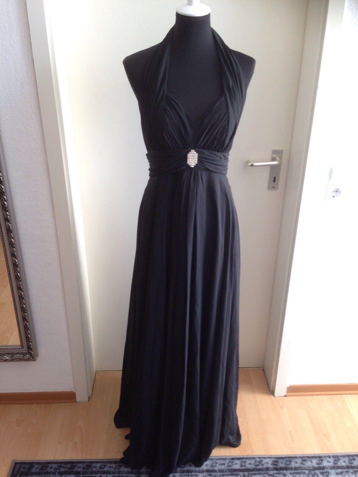 Abiball Kleid Abendkleid Ballkleid Lang Bodenlang Morrywood's Schwarz M