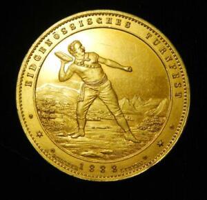 Switzerland 1888 Gilt Silver Medal Federal Gymnastics Festival - Spectacular!