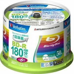 Verbatim-Blu-ray-Disc-Blank-6X-Speed-25-GB-BD-R-Printable-Spindle-VBR130RP50V1
