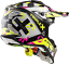 thumbnail 3 - LS2 MX470 SUBVERTER TRIPLEX BLACK YELLOW PINK OFF ROAD MX MOTORCYCLE QUAD HELMET