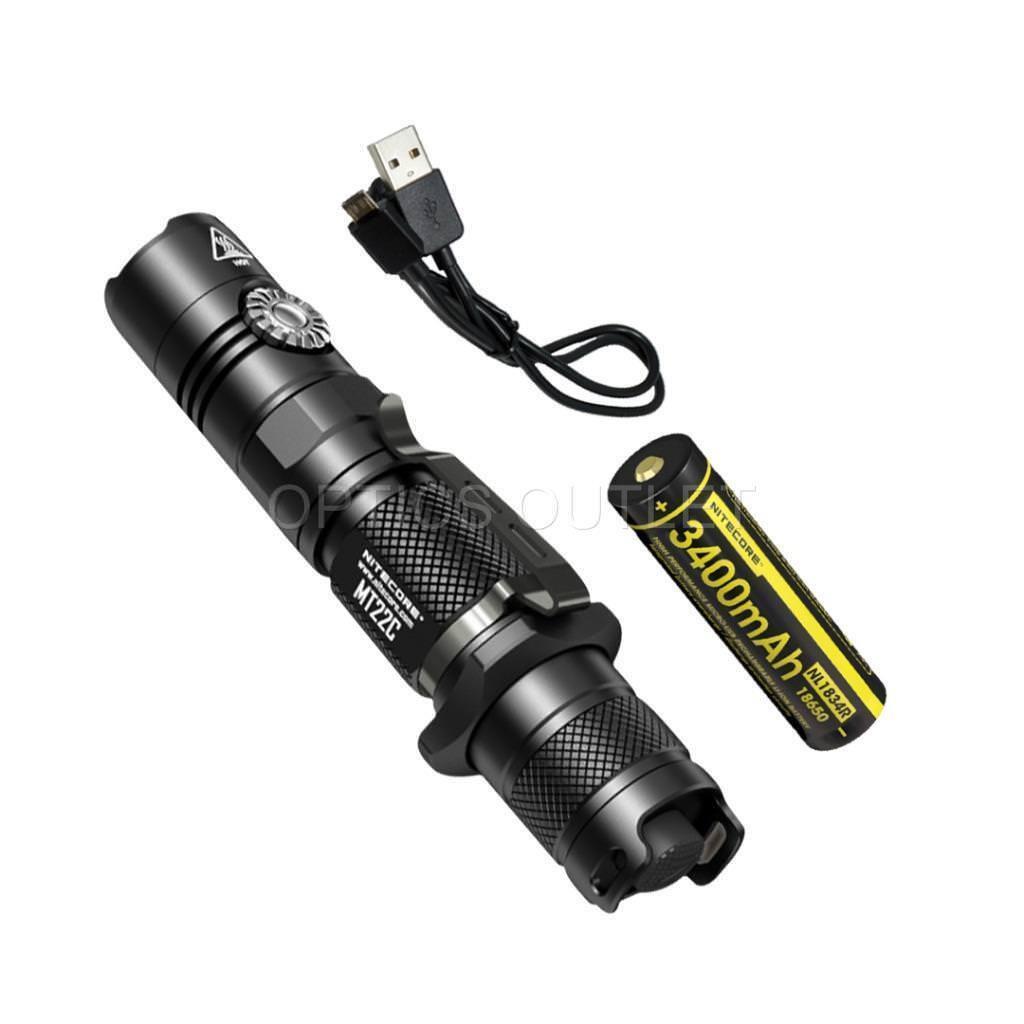 NITECORE MT22C rossoary Switch LED Flashlight Flashlight Flashlight & High Capacity Rechargeable Battery 5e8f82