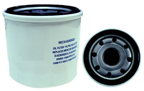 MARINER OUTBOARD 8  9.9 15 20 30 HP REPLACES 35-822626Q03 OIL FILTER  MERCURY