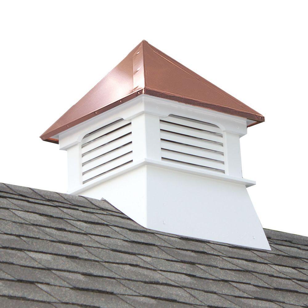 Composite Vinyl Cupola Copper Roof Vane Roofing Square Shape Weather Resistant