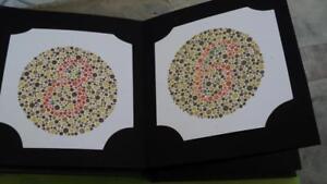 38 PLATES ISHIHARA TEST BOOK FR COLOR BLINDNESS TESTING DR SHINOBU ...