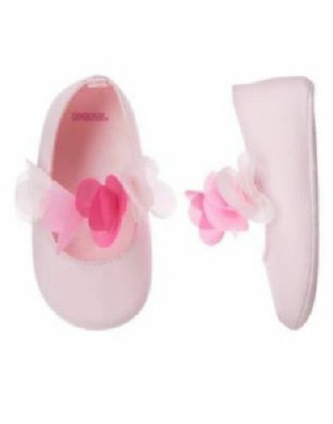 NWT Gymboree Pink Petal Crib Dress Shoes Baby Girl Infant 2,3,4 Holiday wedding