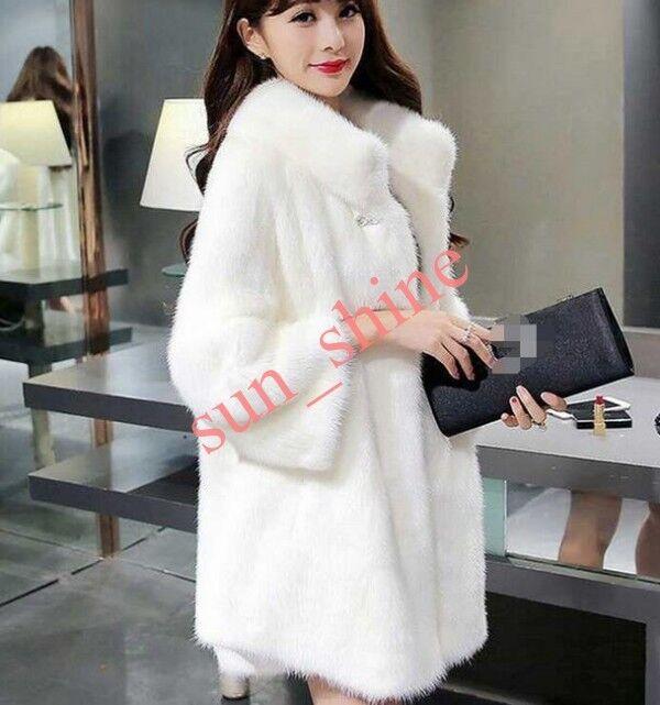 Women's Faux Mink Fur Coat Long Loose Fit Leisure Outwear Overcoat 4XL 5XL 6XL