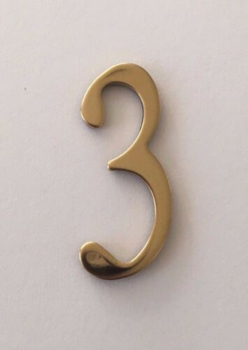 """Address Numbers Self Adhesive 2/"""" BRASS Mailbox numbers House numbers"""