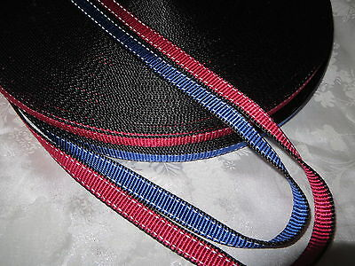 5 or 10Yards- 5/8'' (15mm) Reflective Nylon Webbing, Red or Blue.