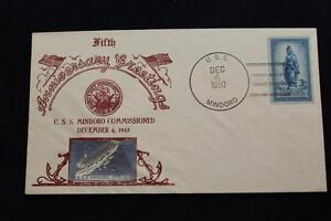 Naval-Cubierta-1950-Barco-Cancelado-5TH-Anniv-Commissioning-US-Mindoro-CVE-120