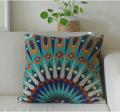 Vintage Cotton Linen Cushion Cover Pillow Case Home Decor Morocco Style