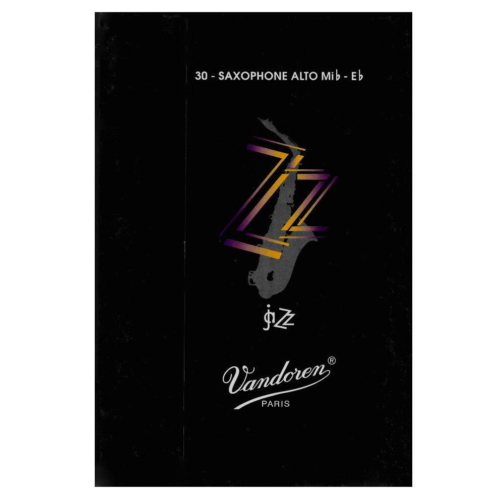 Vandoren Eb Alto Saxophone Jazz Reeds Strength 4, Box of 30 Reeds