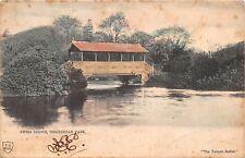 WIRRAL BIRKENHEAD PARK UK SWISS BRIDGE~THE UNIQUE SERIES POSTCARD 1904 PM
