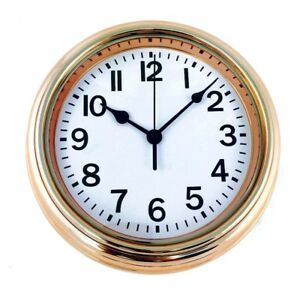 Copper-Colour-Effect-Round-Wall-Clock-Shabby-Chic-Style-22cm-Kitchen-Hall-Clock