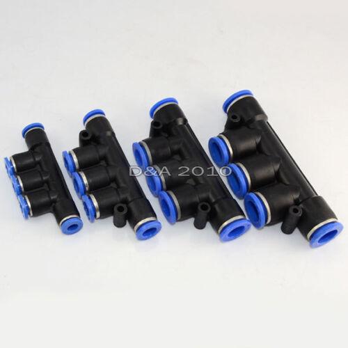Pneumatic Quick Push to connect Union collecteur demandeuse Diamètre extérieur 6 mm 8 mm 10 mm 12 mm