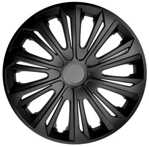 """15/"""" COPRICERCHI Si Adatta Ford Focus Fiesta 4 x15 pollici Raso Nero"""