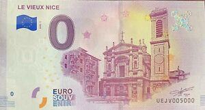 BILLET-0-EURO-VIEUX-NICE-FRANCE-2018-NUMERO-5000-DERNIER-BILLET