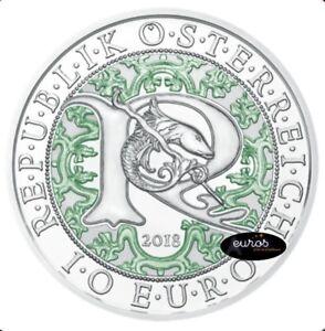 Piece-10-euros-commemorative-AUTRICHE-2018-Raphael-l-039-Ange-Guerisseur-Argent