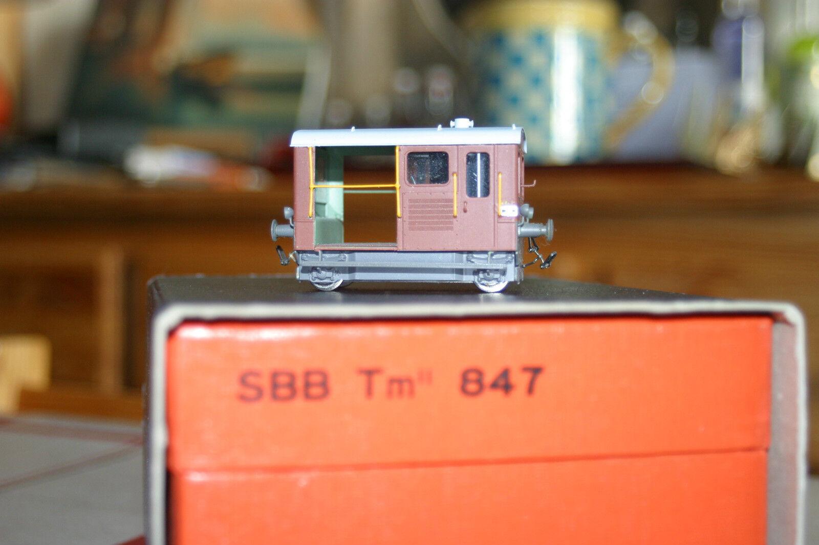HRF  DRAISIN d'entretien des voies Tm 847 des SBB  CFF en laiton.Ho 1  87.