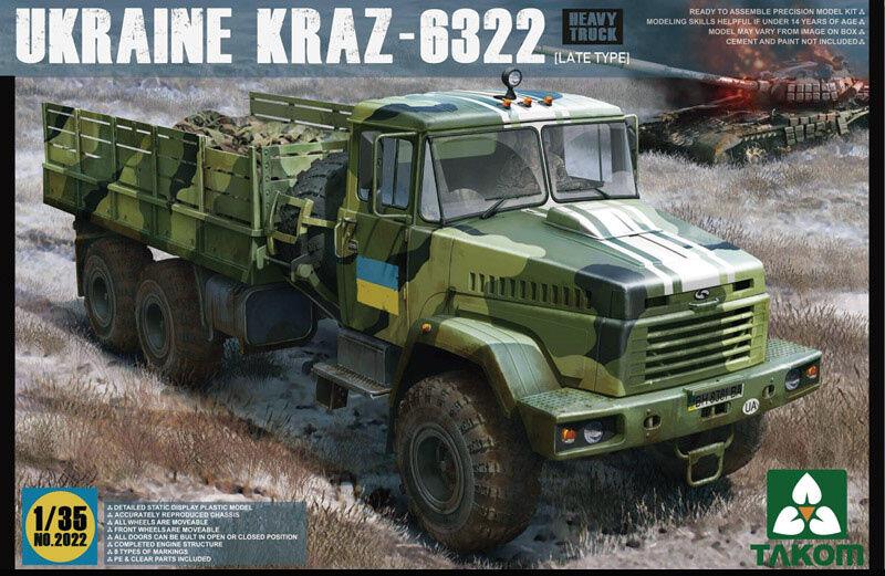Takom 1 35 Ukraine KrAZ-6322 Late Plastic Model Kit