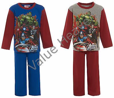 Garçons Avengers 100/% coton Pyjamas Iron Man Hulk Thor Captain America bluegreyred