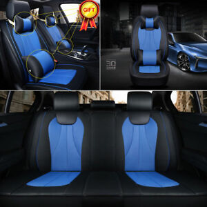 BLUE ELEGANCE FRONT LOWBACK BUCKET SEAT COVERS SET FOR OPTIMA SEDONA
