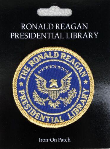 "Ronald Reagan Presidential Library Souvenir Patch 3"" Round New"