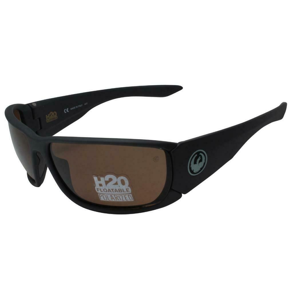 Dragon DR Tow In H2O Sunglasses Matte Shadow Frame 035 Polarized Copper Lens