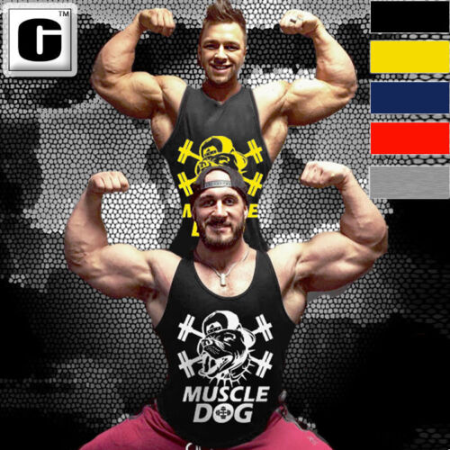 Man Cotton Bodybuilding Tank Top Fashion Dog Muscle Stringer Fitness Muscle Vest