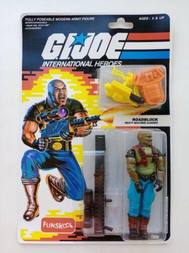 G I JOE Roadblock MOC FUNSKOOL International Heroes Hasbro Action Figure