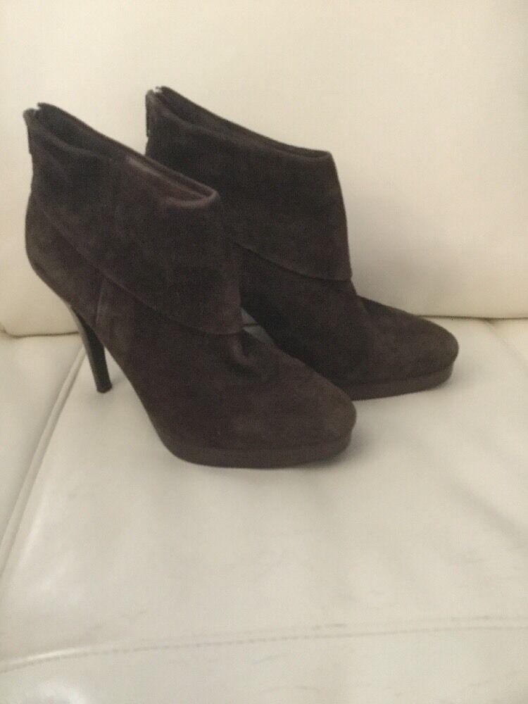Nuevas botas al Tobillo Tobillo Tobillo de Plataforma Steve Madden trishia-Zapatos de tacón de gamuza marrón-tamaño 7.5  garantizado