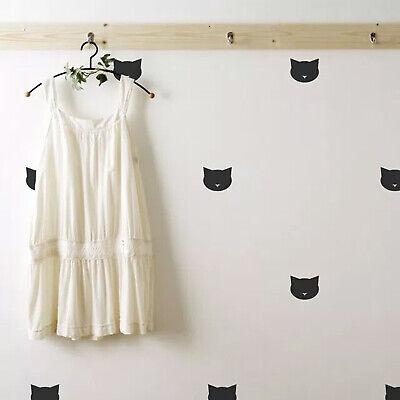 18 CAT Wall Decals Nursery Decor Cute Cat Face Vinyl Wall Sticker For Kids Art