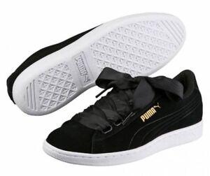 puma vikky ribbon low women's sneakers casual shoes black