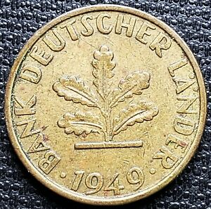 1949-F-Germany-10-Pfennig-Coin-Great-Condition