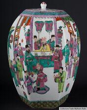 China siglo 20.. jarrón tapa-a Chinese Barrel-shaped JAR-vasooclusivas cinese chinois