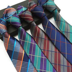 Classic-Mens-Necktie-Jacquard-Woven-Narrow-Skinny-Silk-Tie-Slim-Business-SALE