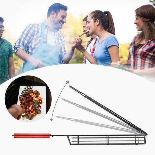 BBQ Kabob Grilling Basket Skewers Rack Rotisserie No Stick Basket Cooking Skewer