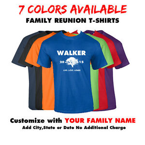 Custom family reunion t shirt family name shirt last name tee for University t shirts with your name