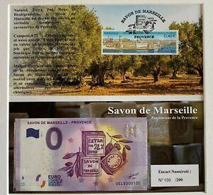 BILLET-0-EURO-SAVON-DE-MARSEILLE-ENCART-FRANCE-2017-NUMERO-100